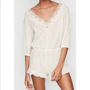 Victoria Secret White beach cover up romper
